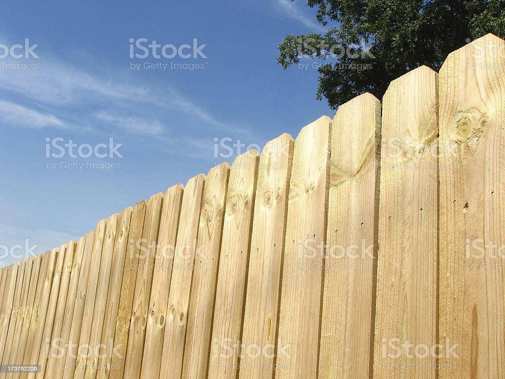 new fence royalty-free stock photo