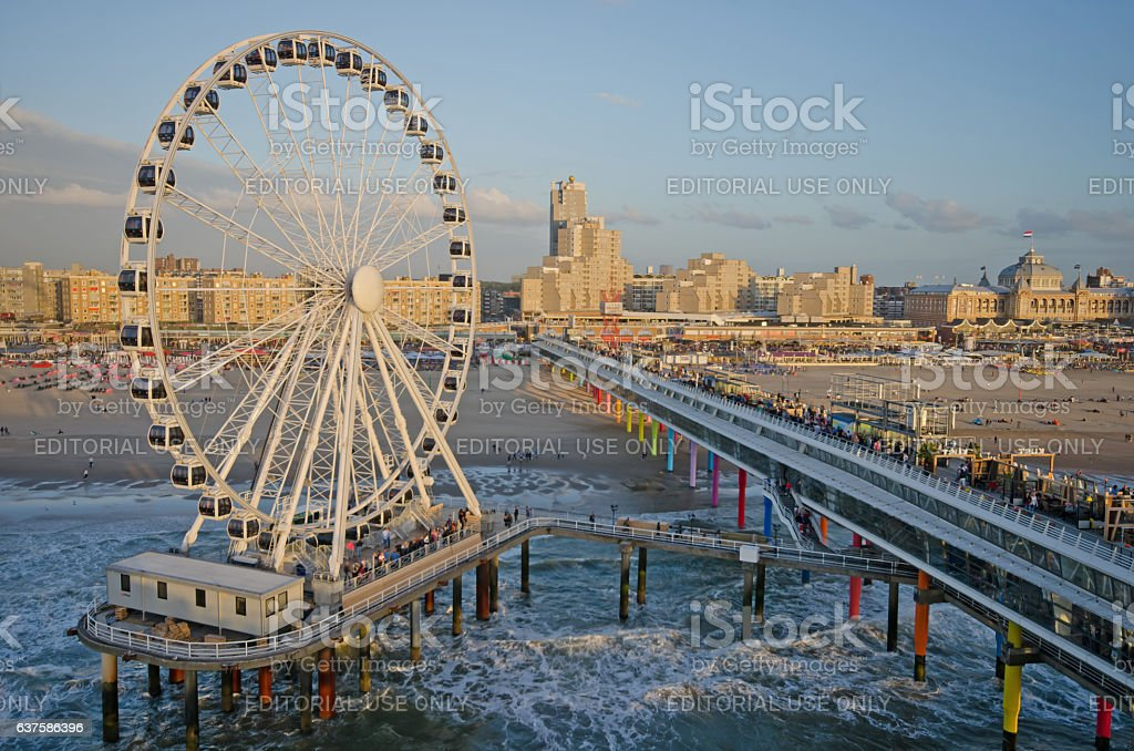 New ferris wheel Scheveningen stock photo
