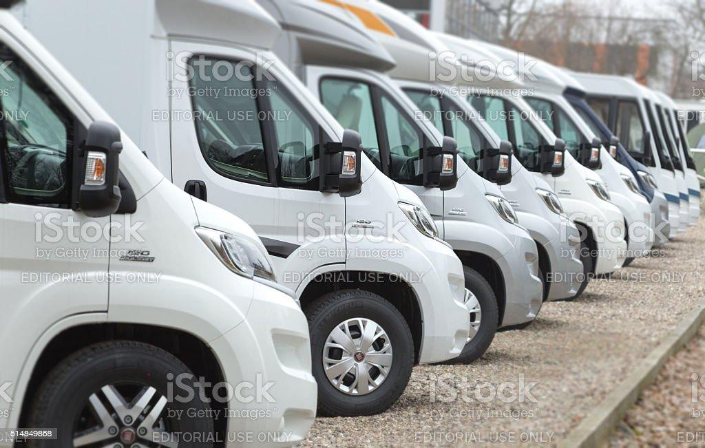 New Fiat Camper vans stock photo