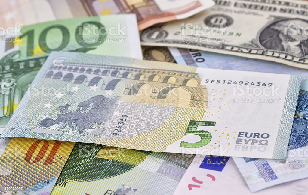 New Five Euro banknote royalty-free stock photo