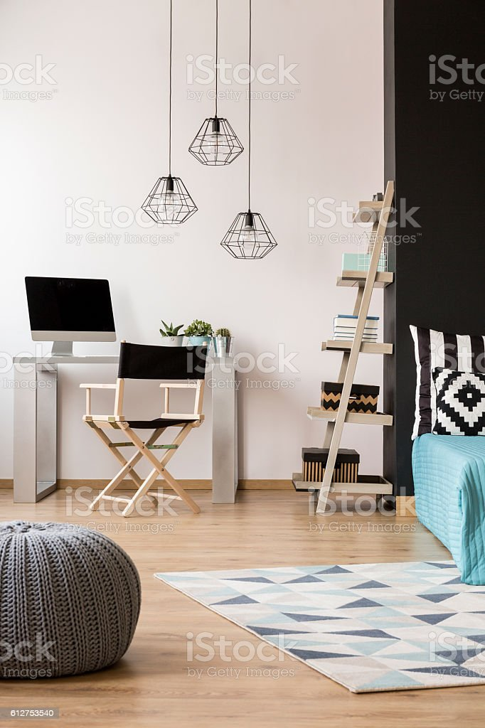 New flat with creative solutions stock photo