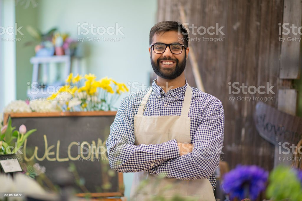 New Florist Shop stock photo