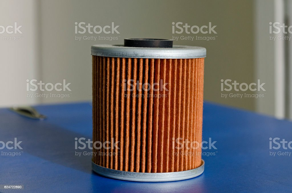 New fuel filter cartridge,oil filter, dust filter stock photo