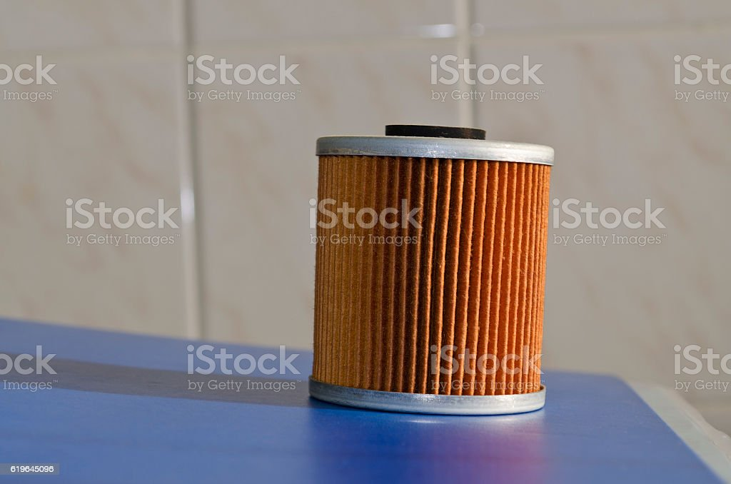 New fuel filter cartridge,oil filter stock photo