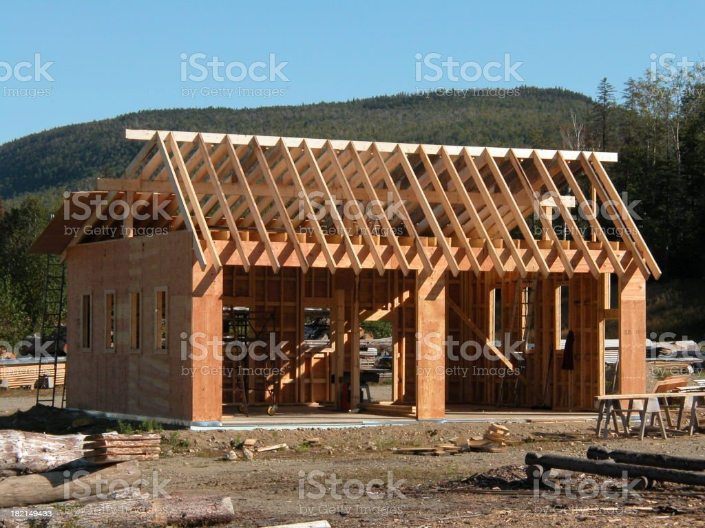 new garage in progress royalty-free stock photo