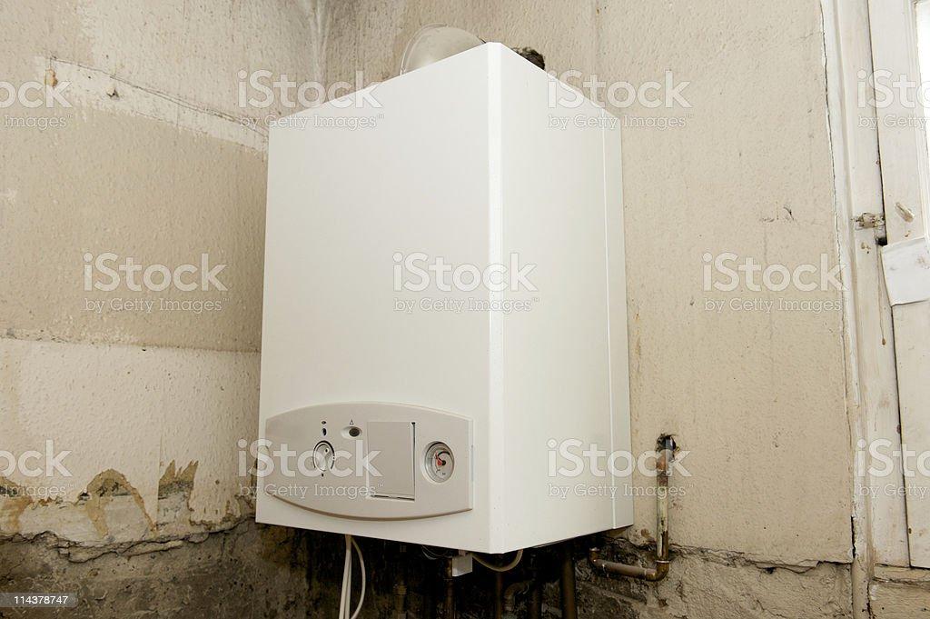 New Gas Boiler stock photo
