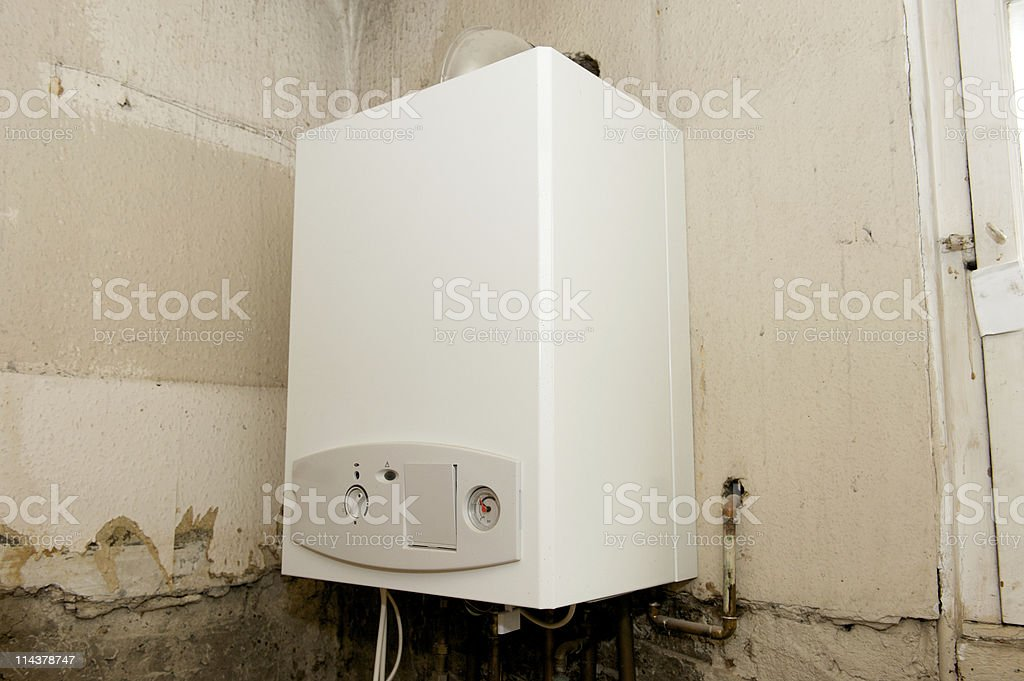 New Gas Boiler stock photo