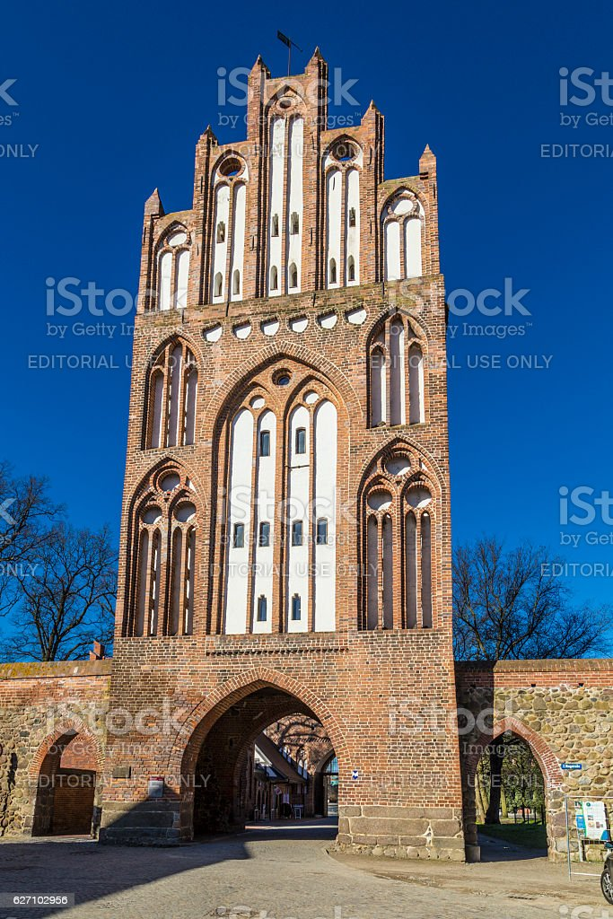 New Gate in the city wall of Neubrandenburg stock photo