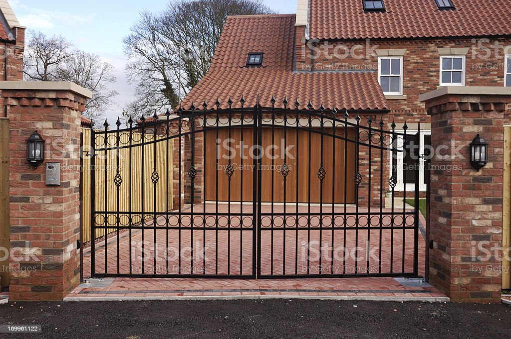 New Gated House stock photo