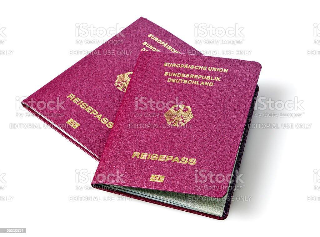 New german biometric passports stock photo