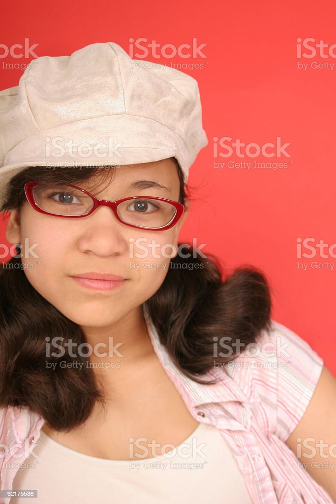 New Glasses - Serious look royalty-free stock photo