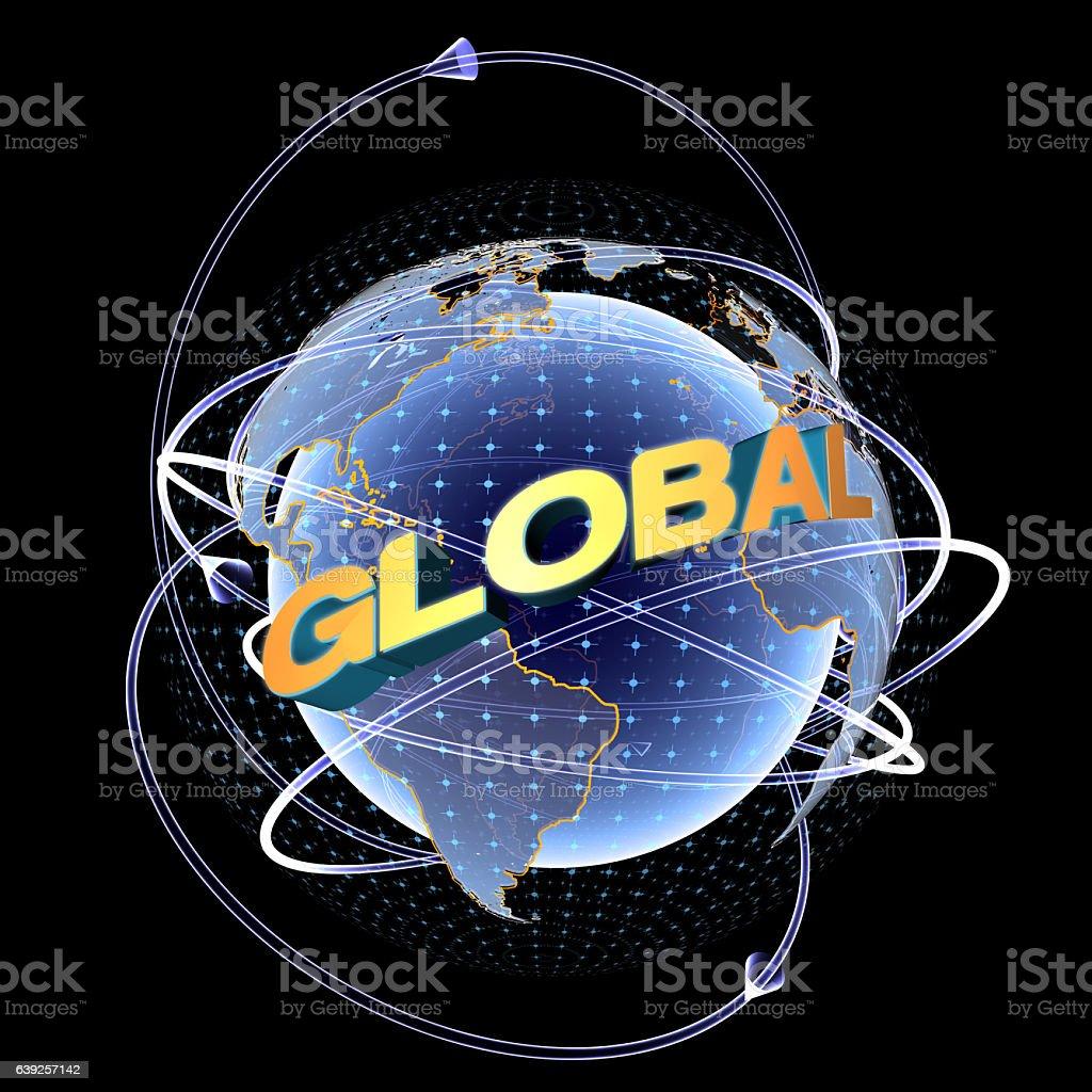 New Global World stock photo