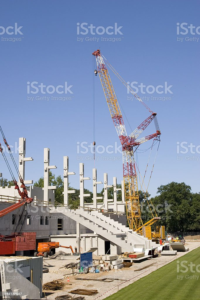 New Grandstands Construction stock photo