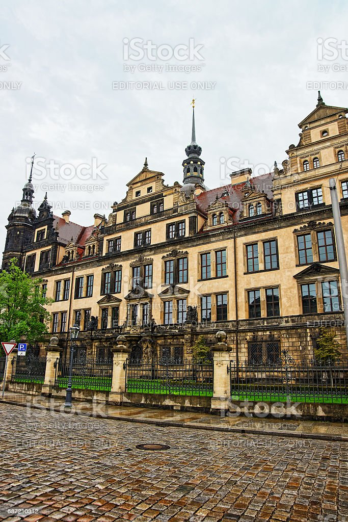 New Green Vault historic museum in Dresden in Germany stock photo