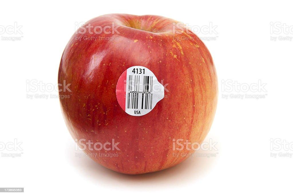 New GS1 DataBars (Bar Codes) on an Apple stock photo
