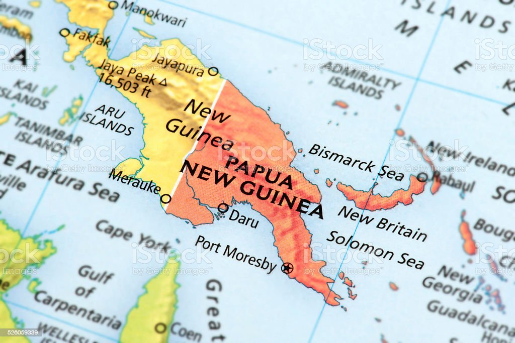 New Guinea stock photo