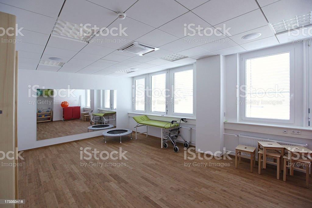 New gymnastik room stock photo
