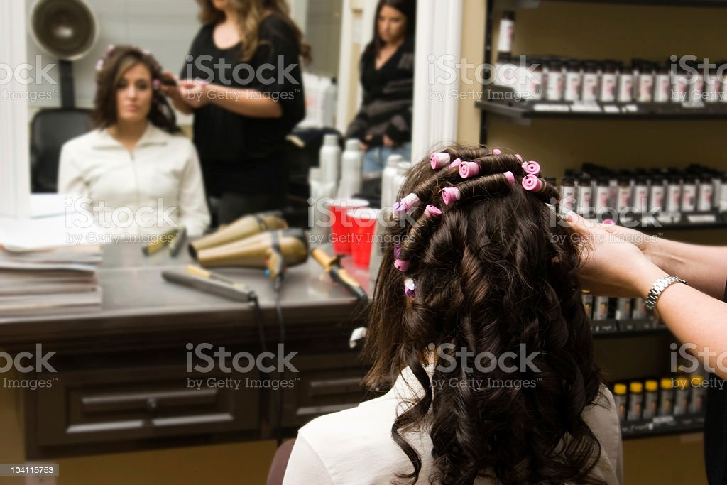 New Hair Style in the Salon royalty-free stock photo