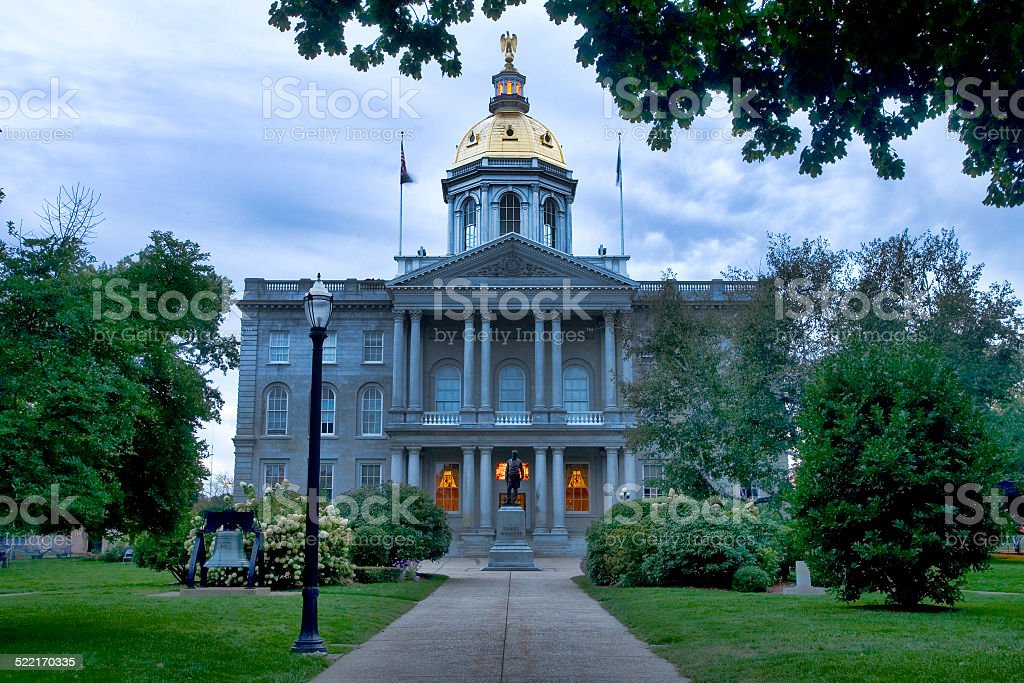 New Hampshire Capitol Building stock photo