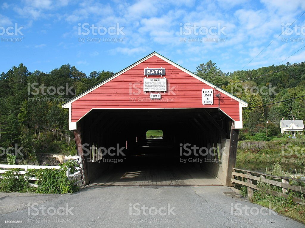 New Hampshire Covered Bridge stock photo