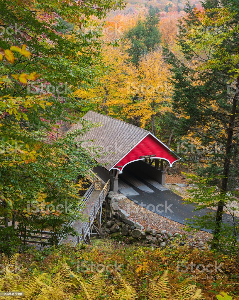 New Hampshire Covered Bridge royalty-free stock photo