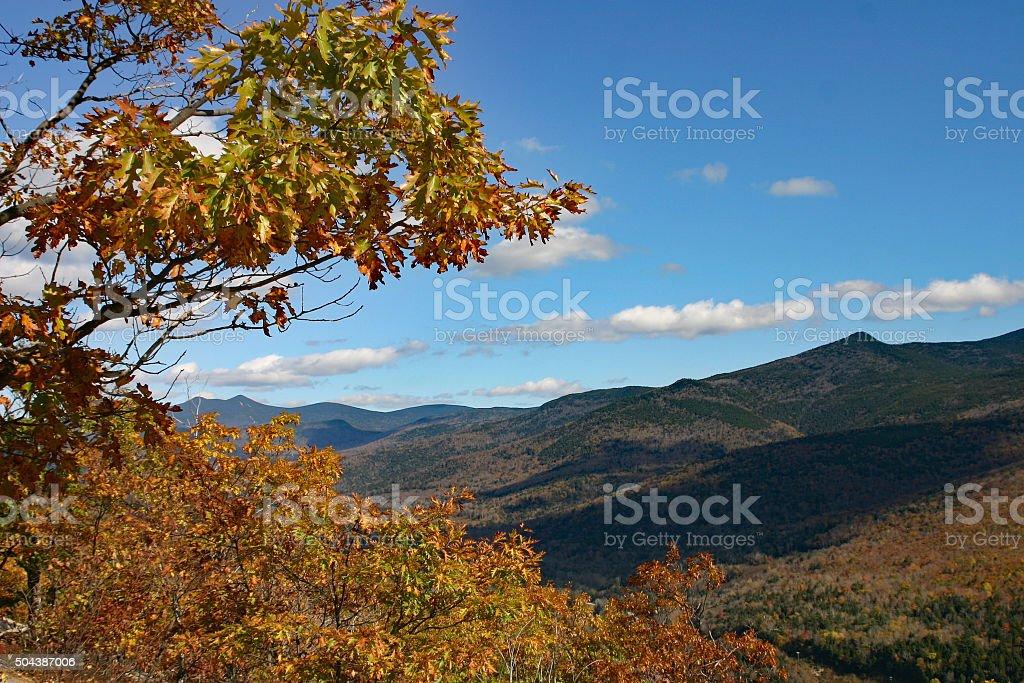 Montagnes d'automne du New Hampshire photo libre de droits