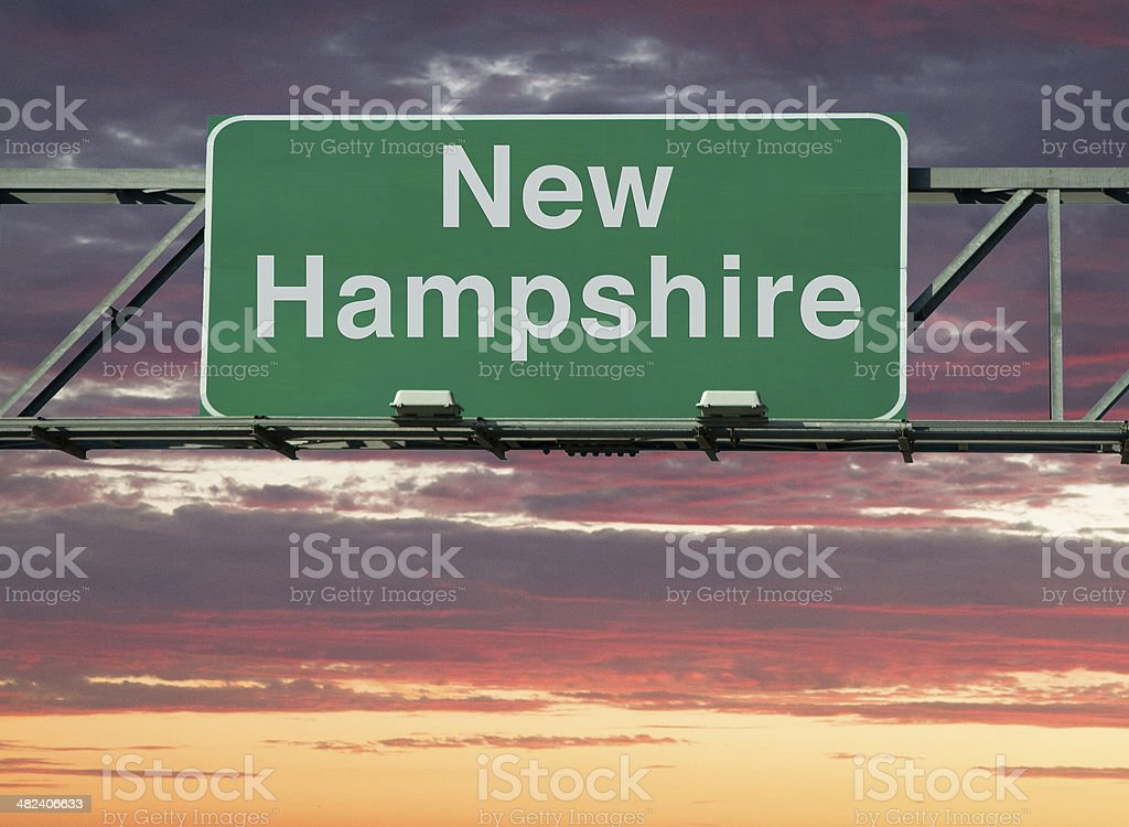 New Hampshire Sign stock photo