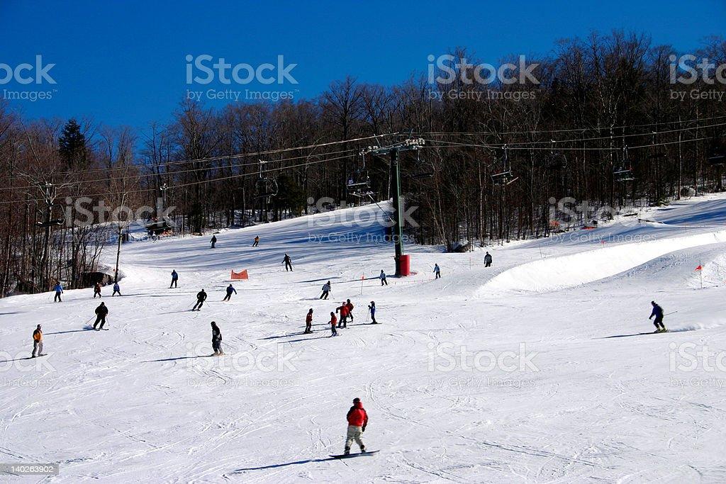 New Hampshire skiing stock photo
