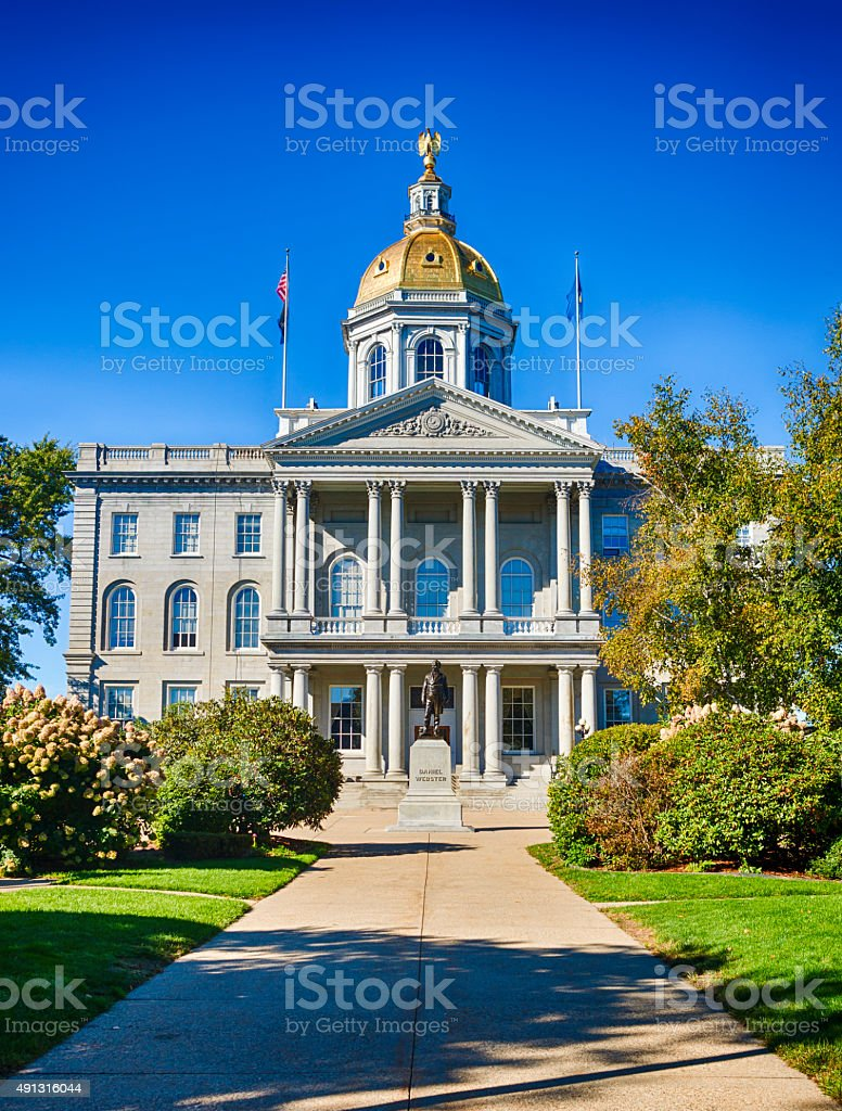 New Hampshire State Capitol Building In Concord stock photo