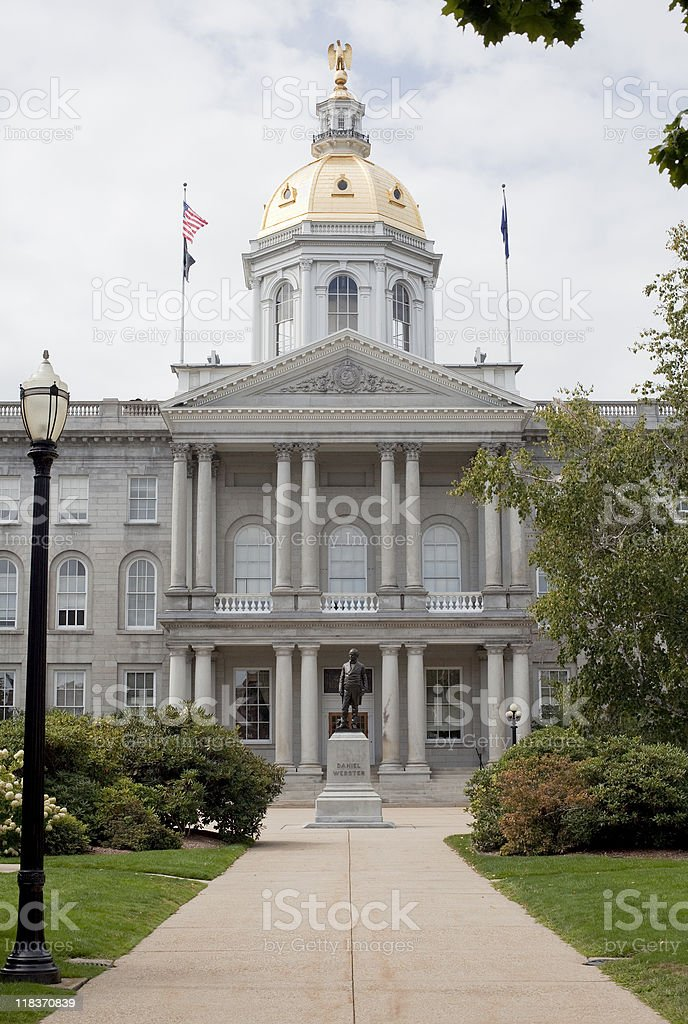 New Hampshire State House in Concord stock photo