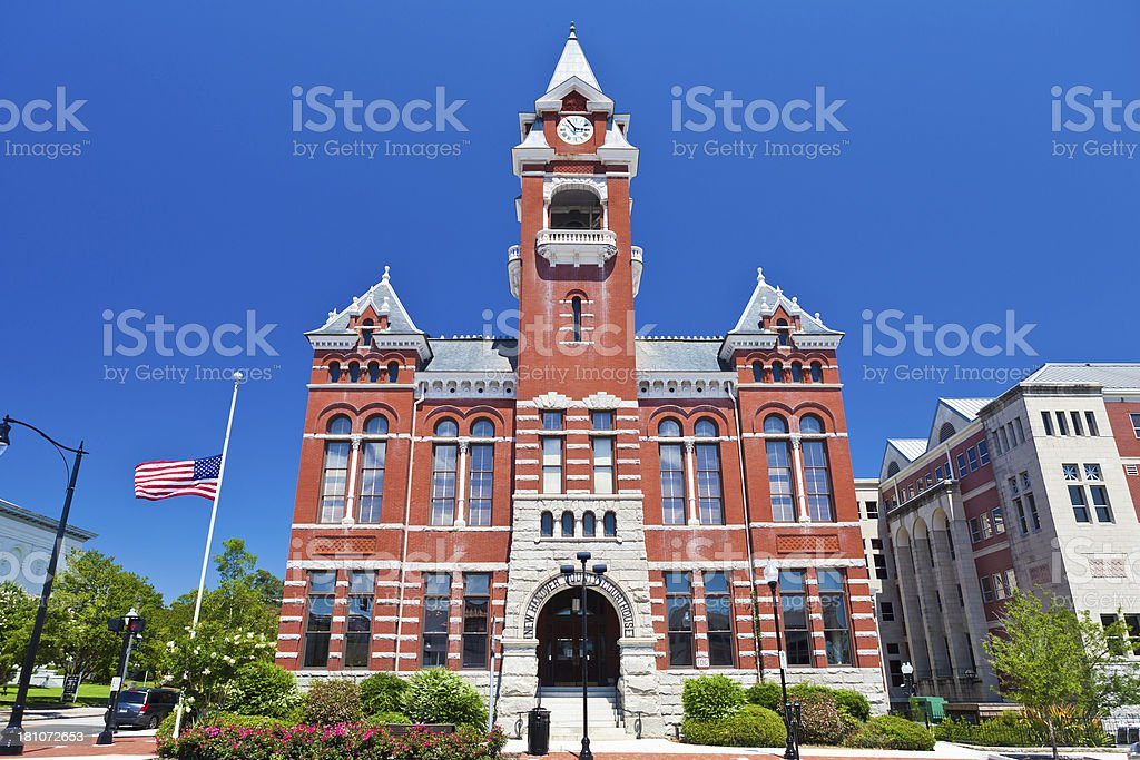 New Hanover County Courthouse In Wilmington, North Carolina stock photo