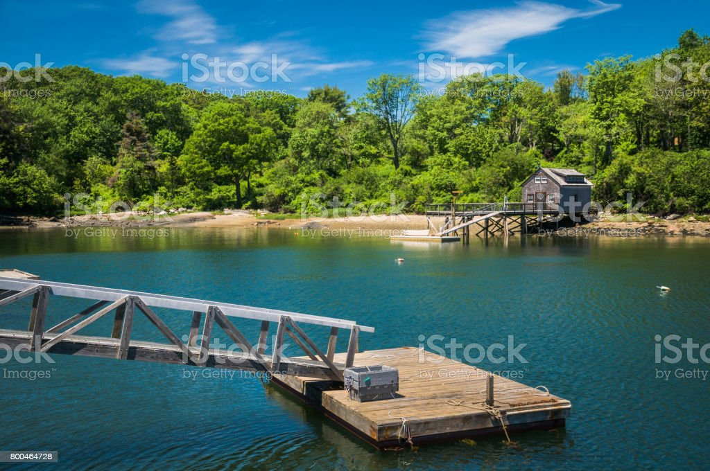 New Harbor, Maine stock photo