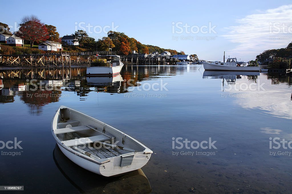 New Harbor, Pemaquid Point, Maine royalty-free stock photo