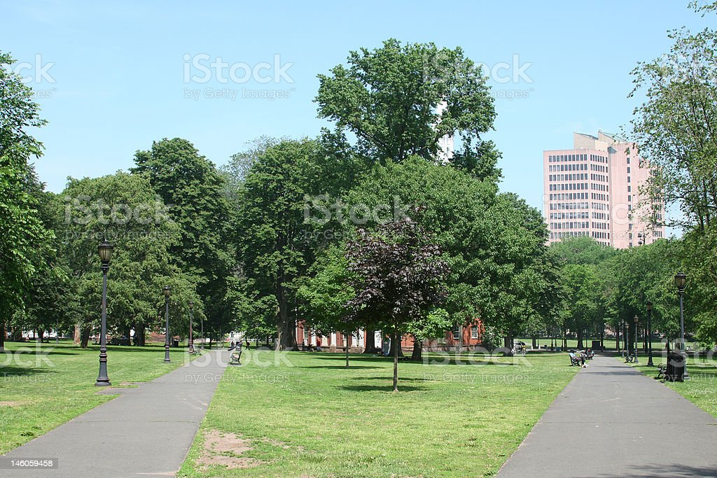 New Haven Green stock photo