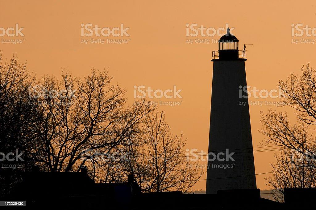 New Haven Harbor Light (CT) royalty-free stock photo