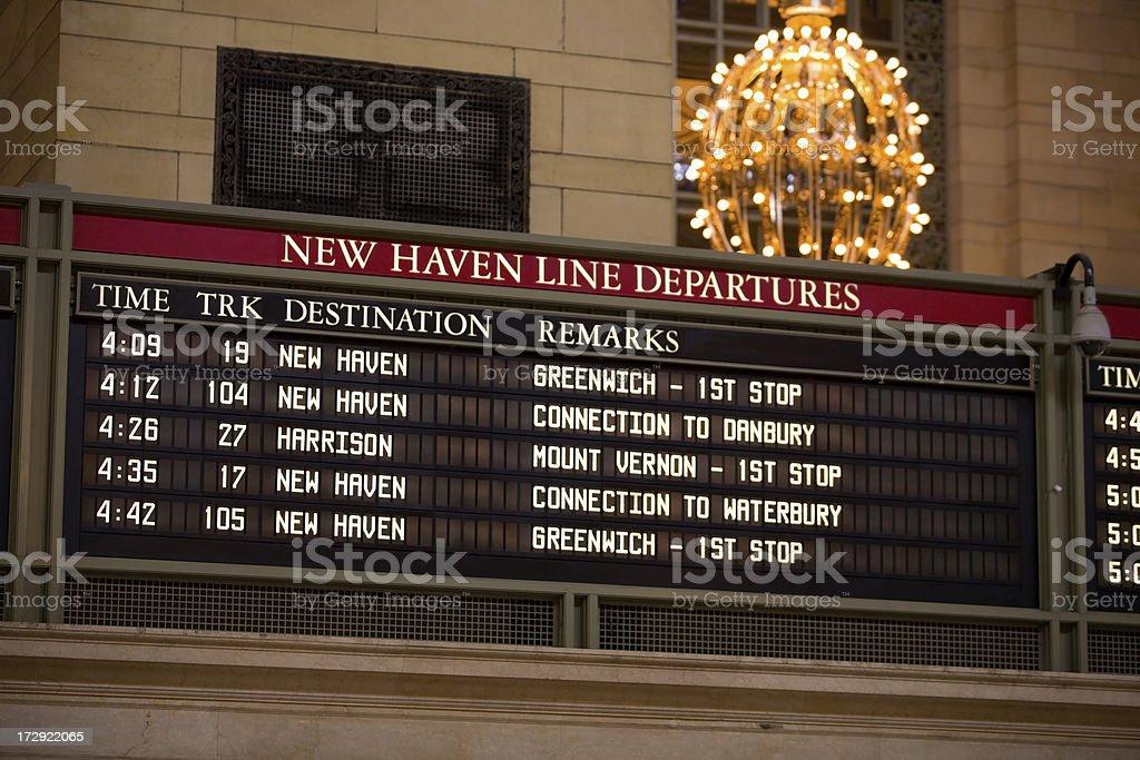 New Haven Line Departures stock photo