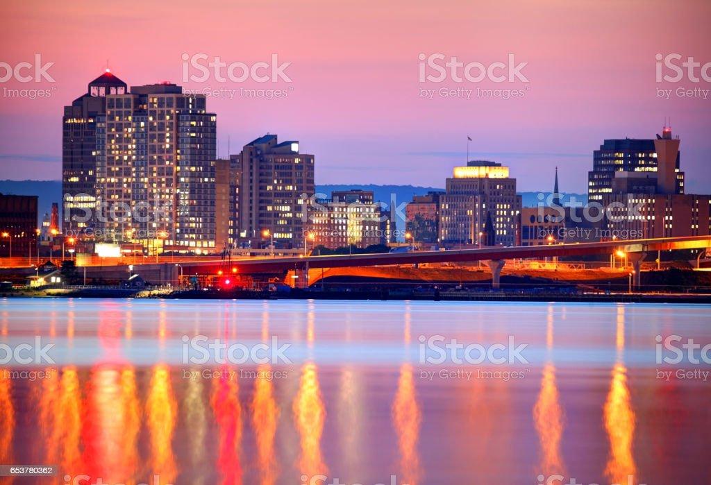 New Haven Skyline stock photo