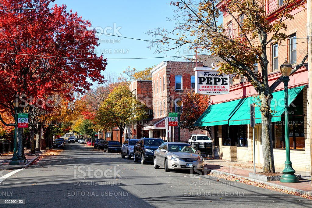 New Haven's Little Italy on Wooster Street stock photo