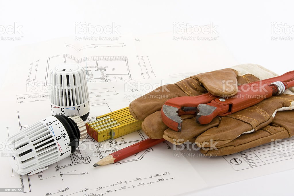 New heating system? royalty-free stock photo