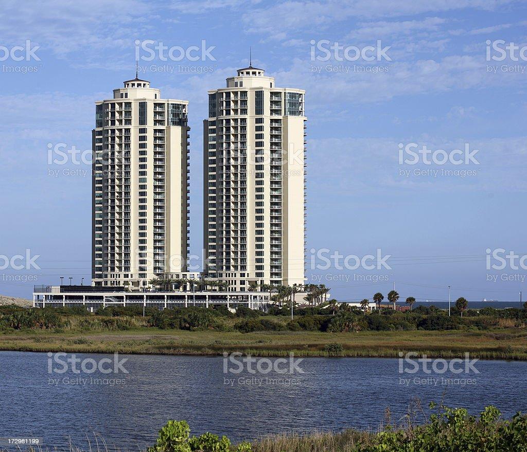 new high risers on Galveston Island stock photo