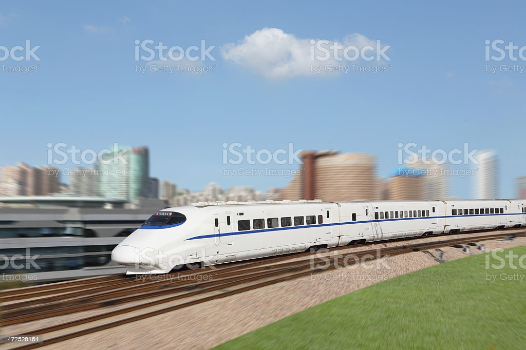 New high-speed train stock photo