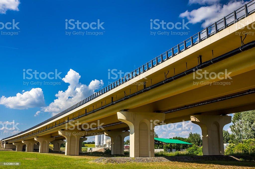 New Highway S3 bridge, Poland stock photo