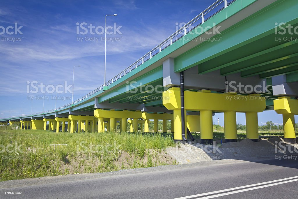 New highway viaduct royalty-free stock photo