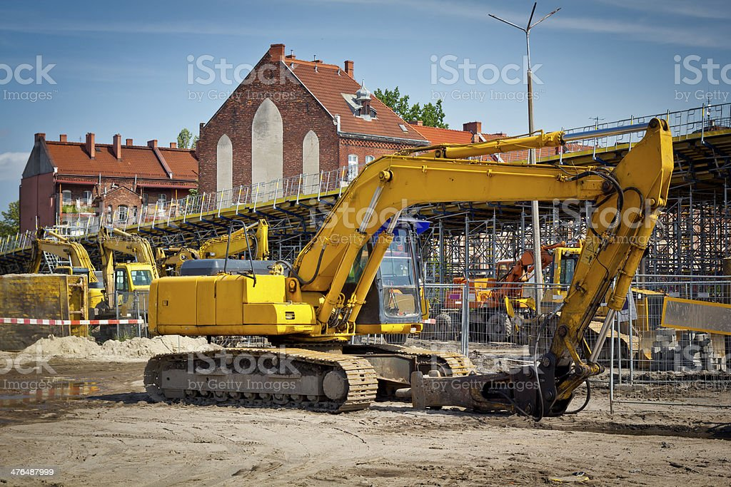 New highway viaduct under construction royalty-free stock photo