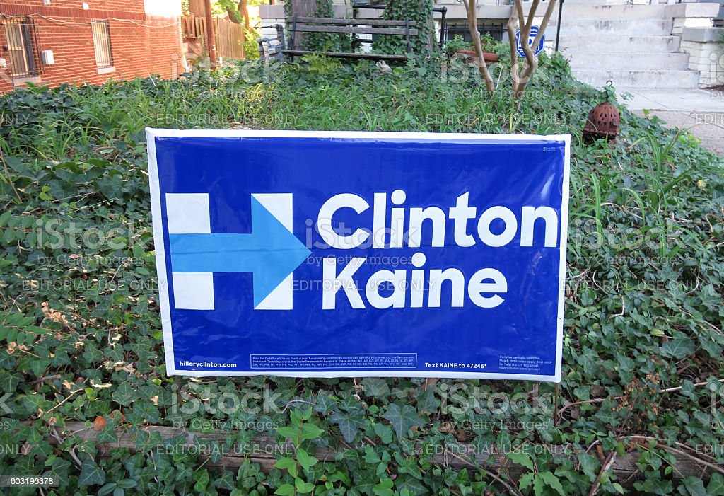New Hillary Clinton Campaign Poster stock photo