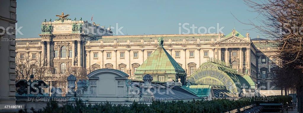 New Hofburg Vienna (german: Neue Hofburg) royalty-free stock photo