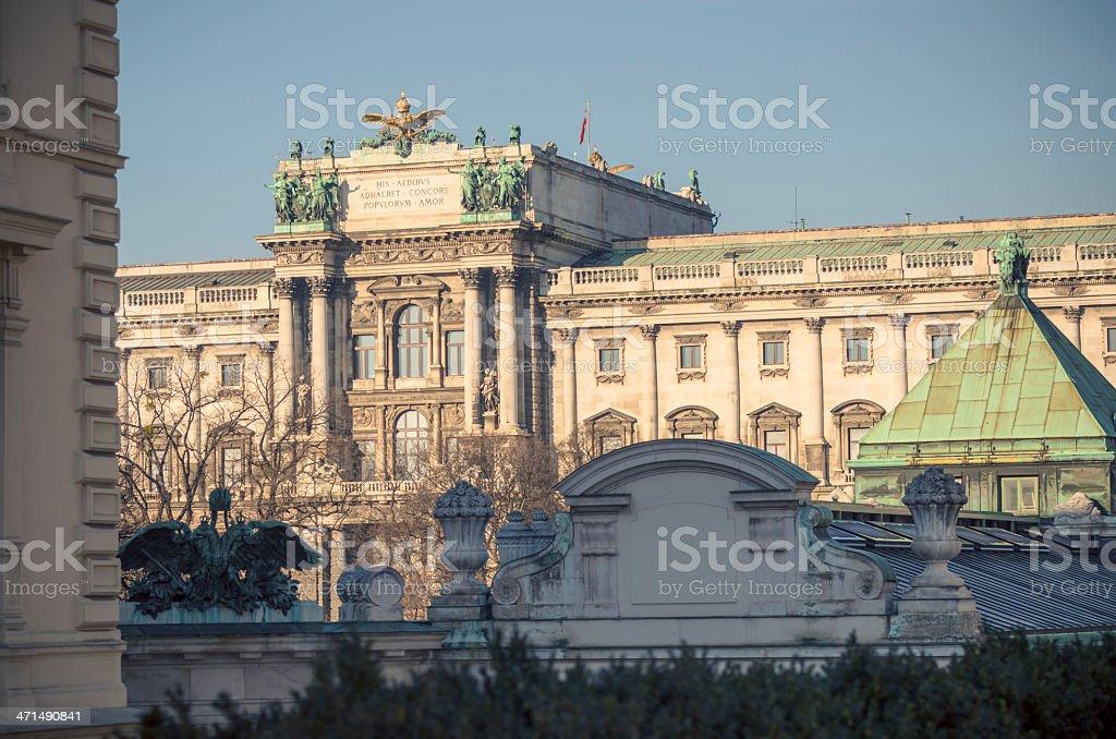 New Hofburg Vienna (german: Neue Hofburg) stock photo