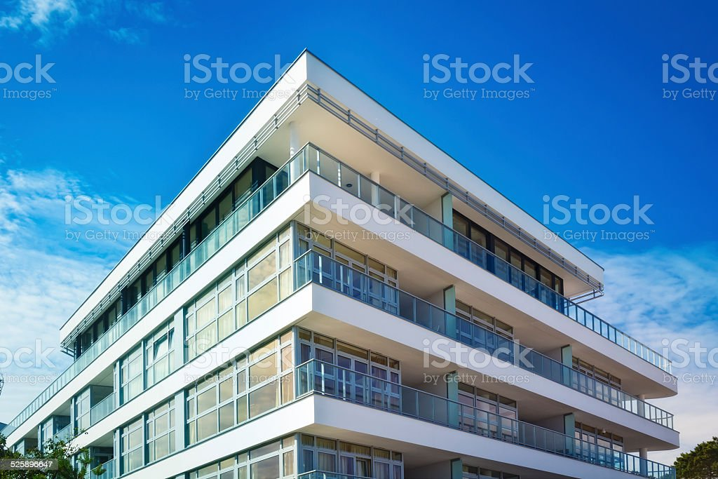 New holiday apartment building stock photo