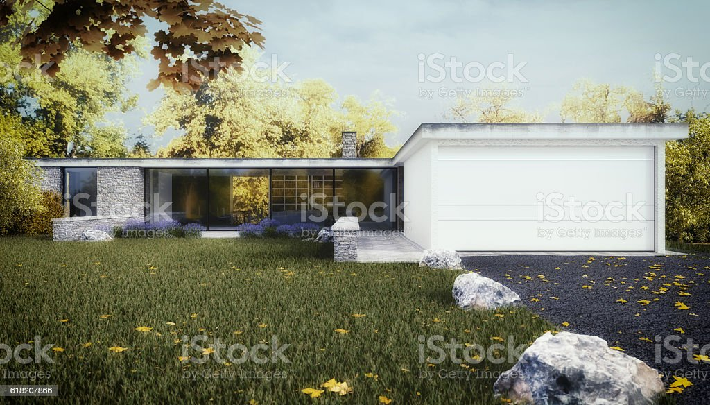 New Home - 3D render stock photo