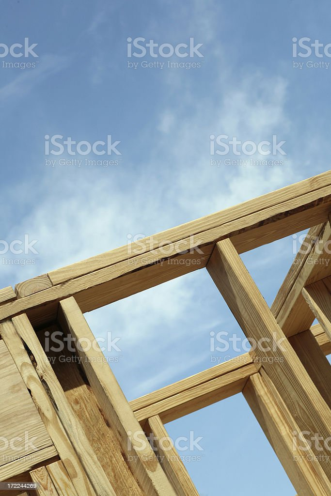 New Home being framed royalty-free stock photo